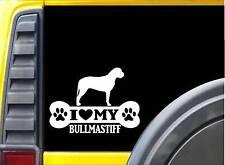 Bullmastiff Bone Sticker L080 8 inch dog decal