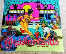 Williams Aladdin's Castle Pinball Machine Translite Looks Just Like Backglass