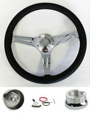 "69-93 Oldsmobile Cutlass 442 Black Leather Steering Wheel 15"""