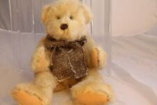 "The Bearington Collection 16"" Tan Plush Bear #7364 Bow Scarf Retired Vintage"
