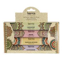 Karma Scents Incense Variety Pack 4x14 Sticks Rose Jasmine Sandalwood & Lavender