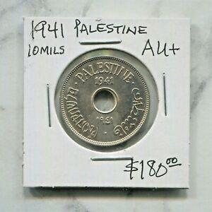 PALESTINE- FANTASTIC HISTORICAL COPPER-NICKEL 10 MILS,1941,  KM# 4