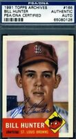Bill Hunter Signed Psa/dna 1953 1991 Topps Archives Autograph Authentic
