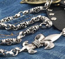 Big Mark Pendant Trucker Rocker Biker Keychain Key Jean Wallet Chain CS114