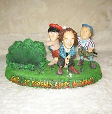 Vintage 1999 Three Stooges Gazelle Golf Scene Business card pencil Pen holder