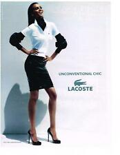 PUBLICITE ADVERTISING  2011   LACOSTE  unconventional chic