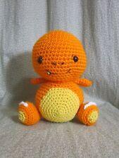 "Handmade Amigurumi Crochet charmander pokemon doll plush 8"" video game anime"