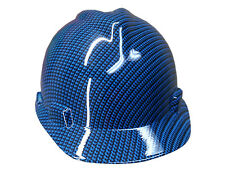 Blue Carbon Fiber MSA V-Guard Cap Hard Hat
