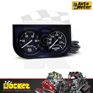 Auto Meter Auto Gage 2-1/16 Oil Pressure & Water Temp Gauge - AU2392