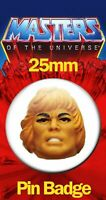 HE-MAN HEAD 25mm BADGE He-Man and the Masters of the Universe MOTU Image