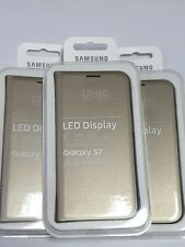 Samsung OEM  ORIGINAL LED Display View Cover for Samsung Galaxy S7 EF-NG930 GOLD