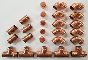 25 x 15mm Solder Ring  Yorkshire Type Fittings Plumbing Copper Pipe DIY    (FP1)