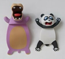 Panda Hippo Ouch Squashed Animal Bookmarks 3D Cartoon