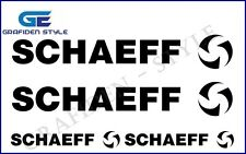 4 Stück SCHAEFF - Bagger Aufkleber - Sticker - Decal !