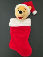 Disney Winnie The Pooh Plush Head Christmas Stocking