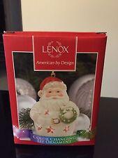 Color Changing Lit Ornament Christmas Santa Lenox