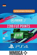 PS4 - FIFA 19 Ultimate Team - 2200 FUT Points Key Playstation 4 Code Nur für DE