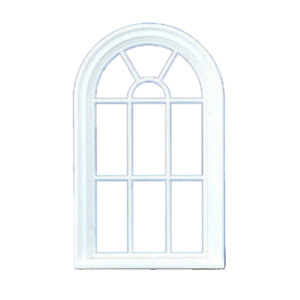 Dolls House Arched Window 1:24 Half Inch Scale White Plastic Victorian Style