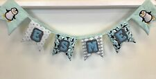 Name Banner Personalised Penguin Padded Felt Letter Bunting Garland Flags