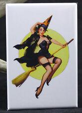 "Sexy Witch Pinup Girl 2"" X 3"" Fridge / Locker Magnet. GGA Halloween"