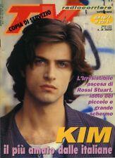 * TV RADIOCORRIERE N° 16/1995 * ROSSI STUART - KIM il più amato dalle italiane
