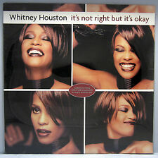 """SEALED UNPLAYED WHITNEY HOUSTON IT'S NOT RIGHT BUT IT'S OKAY 12"""" 3 TRACK SINGLE"""