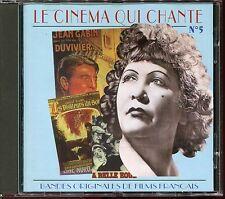 LE CINEMA QUI CHANTE N°5 - BANDES ORIGINALES DE FILMS FRANCAIS - CD ALBUM [868]