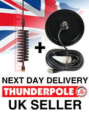 "Thunderpole Orbitor Aerial & 7"" Large Magnetic Mag Mount Kit | CB Radio Antenna"