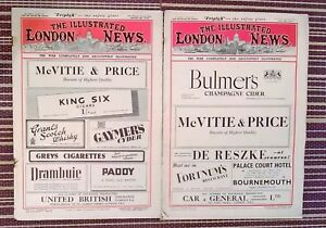 The Illustrated London News June 26th 1943 + October 23rd 1944