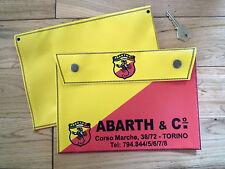 "ABARTH & CO Handbook Tool or Document Bag 10"" Fiat 500 GT Uno Panda Barchetta"