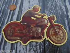 "Large Arnold Mac 700 Motorcycle MAGNET 6"" Figural Bike Refrigerator Collectible"