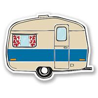 2 x Caravan Vinyl Sticker Decal iPad Laptop Car Camper Van Surf Beach Fun #5446