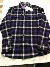 Ralph Lauren Collection Cooper Merino Lana y Cachemir Cuadros Camisa de Franela