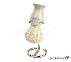 Men's Badger Hair Shaving Brush With Brush Holder Stainless Steel Stand