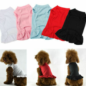 Dog Skirt Pet Dress Cotton Small Dog Princess Dress Chihuahua Puppy Cat Clothes