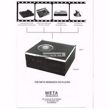 1991 Meta Research Laser 1 Convert 1 Cd Player Stereo Hi-Fi Vtg Print Ad