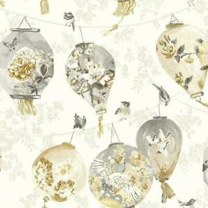 Hand Painted Effect, Paste the Wall, Paper Lantern Design Wallpaper 42