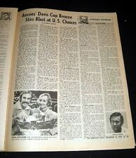 John Newcombe & Rod Laver 1973 Australia Davis Cup Victory Tennis Feature