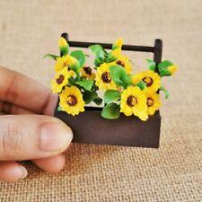 """DOLLHOUSE 1:12 Miniature Popular /""""Sunflower Babies/"""" Shopping Bag-Yellow//Blue"""