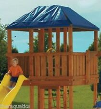 Swing-N-Slide Blue Treeplay Tarp Roof Shade Playground Plastic Swingset roof 7'