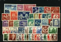 East Germany 1949/53 range of early issues to include '50 Exhibition, '50 Stamps