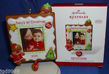 Hallmark Photo Holder Ornament One Cute Cookie Baby's First Christmas 2014 NIB