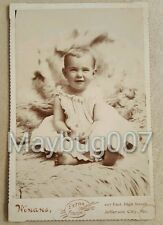 Vintage Antique Cabinet Card Photograph identified child Jefferson City, MO