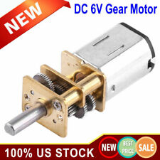 DC 6V 10RPM High Torque Low Speed Electric Gear Motor Ratio 1:1000 12mm