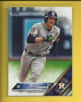Jed Lowrie 2016 Topps Series 1 Card # 38 Athletics A's Houston Astros 3B MLB