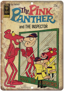 """The Pink Panther And The Inspector Comic 10"""" X 7"""" Reproduction Metal Sign J291"""