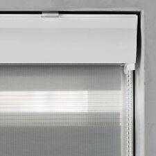 Doppelrollo mit Kassette und Kettenzug in Grau für Fenster & Türen Sichtschutz