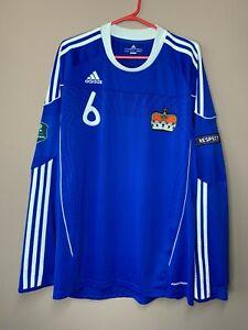 Liechtenstein Match Worn Stocklasa #6 Formotion Shirt Jersey Euro Qualifiers