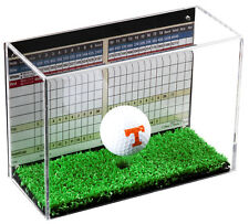 Clear Acrylic Golf Ball Display Case with Black Back and Turf Floor (A045-TB)