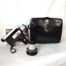 1960s Canon Super 8 Auto Zoom 518  Camera, Case, Teleconverter, Manual Japan